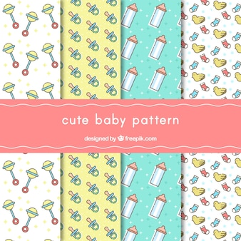 Pack of four cute baby patterns
