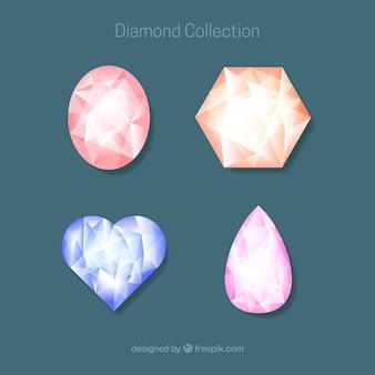 Pack of four diamonds