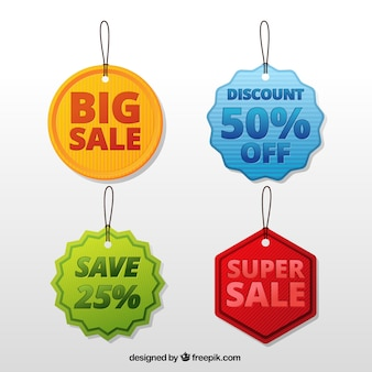 Pack of four discount labels