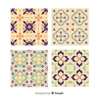 Pack of four elegant tiles