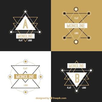 Pack of four geometric logos