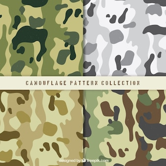 Pack of four military patterns