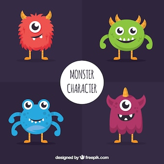 Pack of four monsters