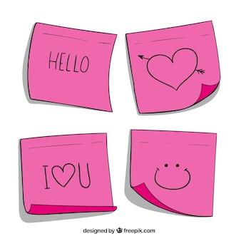 Pacchetto di quattro note con messaggi d'amore