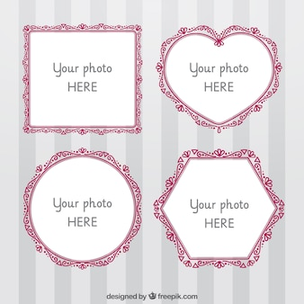 Pack of four ornamental photo frames