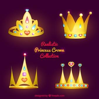Confezione di quattro corone brillanti principessa