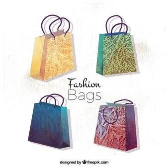 Confezione da quattro eleganti borse per la spesa