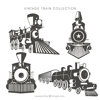 Pack of four vintage trains