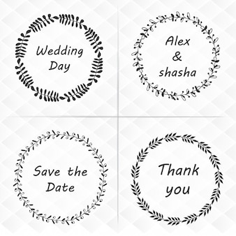 Pack of four wedding floral wreath