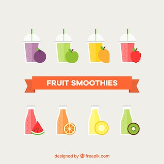 Pack of fruit smoothies
