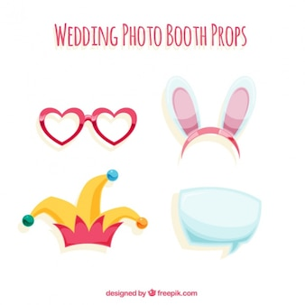 Pack of funny accessories for photo booth