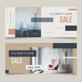 Pack of furniture sales banners