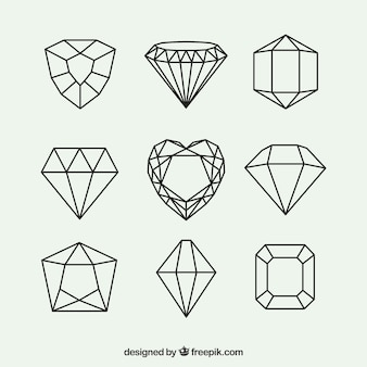 Pack of geometric diamonds