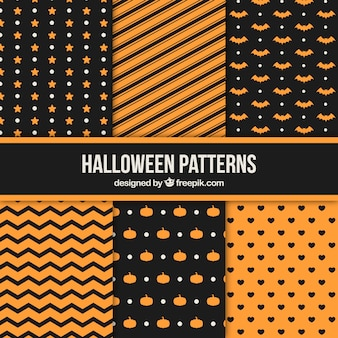 Pack of geometric halloween patterns