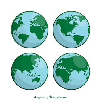 Pack of globes