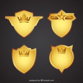 Pack of golden shields
