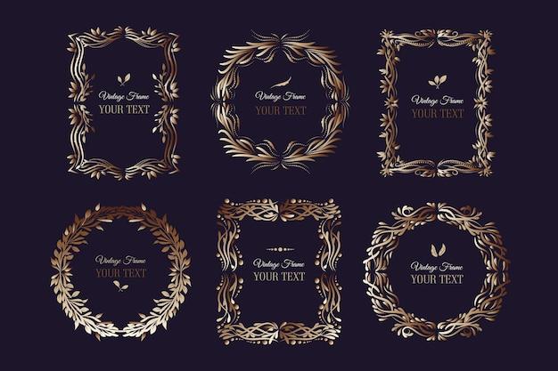 Confezione di cornici dorate vintage