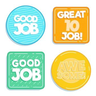 Confezione di buoni lavori e adesivi fantastici