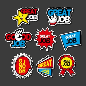 Pack of good job and great job stickers