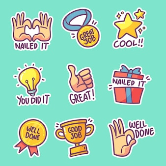 Pack of good job stickers