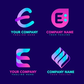Pack of gradient o logo templates