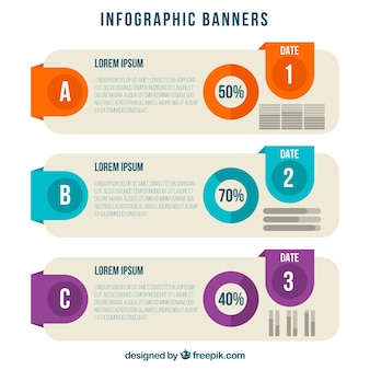 Pack of great infographic banners