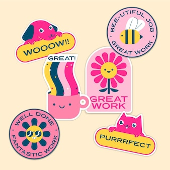 Pack of great job and good job stickers