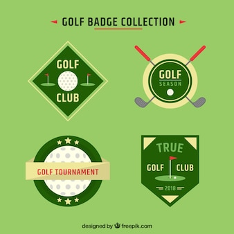 Pack of green golf labels