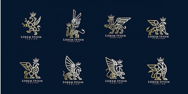 Pack of griffin logo template
