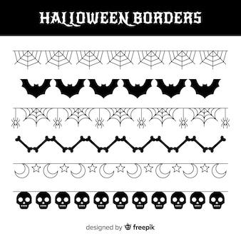 Pack of halloween borders