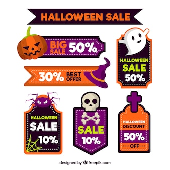 Pack of halloween discount stickers