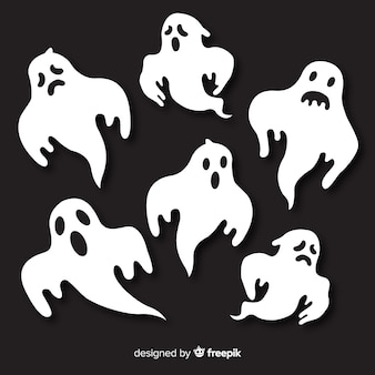Pack of halloween ghosts