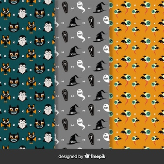 Pack of halloween patterns