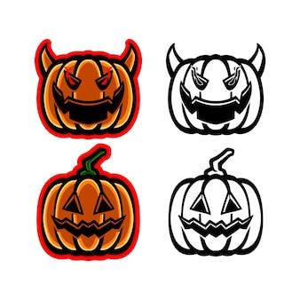 Pack of halloween pumpkin