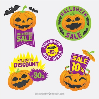 Pack of halloween sale stickers