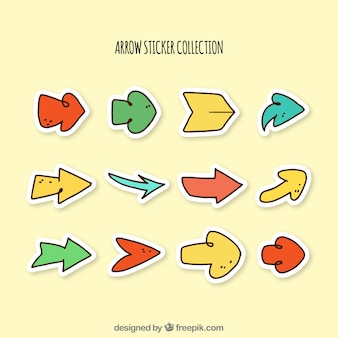 Pack of hand drawn arrow stickers