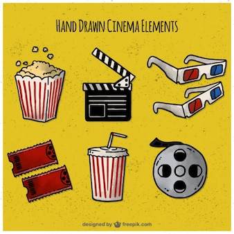 Pack of hand drawn film elements