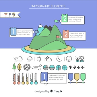 Pack of hand drawn infographic elements