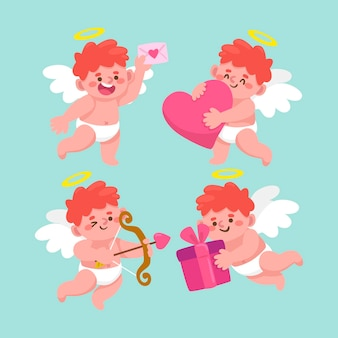 Pack of illustrated cupid character