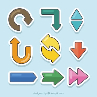Pack of infographic arrow stickers