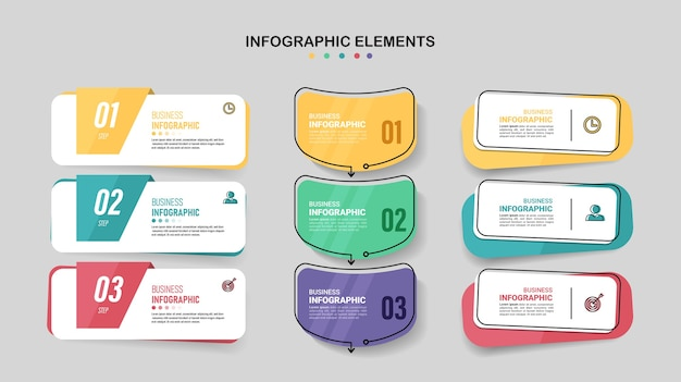 Pack of infographics element template.