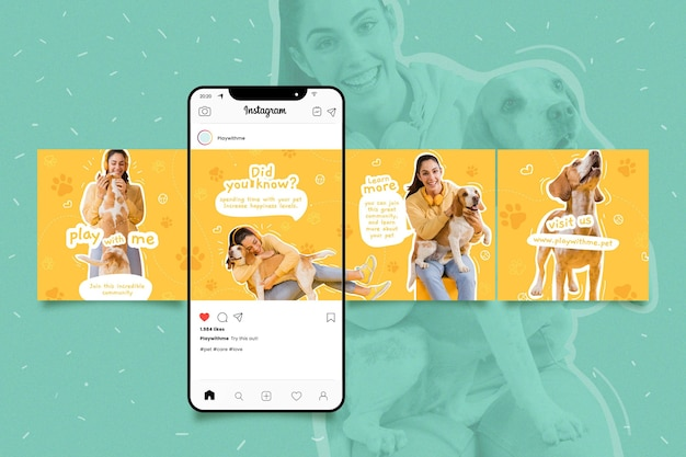 Pack of instagram carousel templates