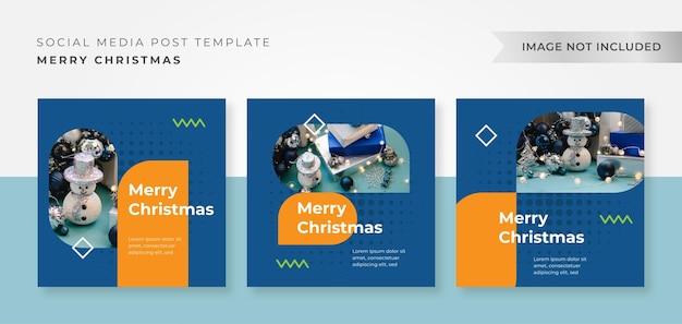 Pack instagram christmas design template