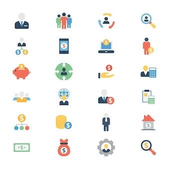 Pack of invetor flat icons