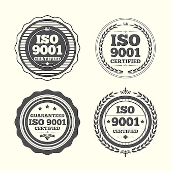 Pack of iso certification stamp