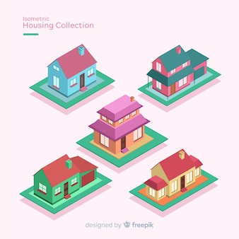 Pack of isometric houses
