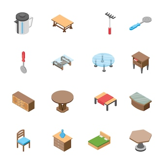Pack of isometric objects
