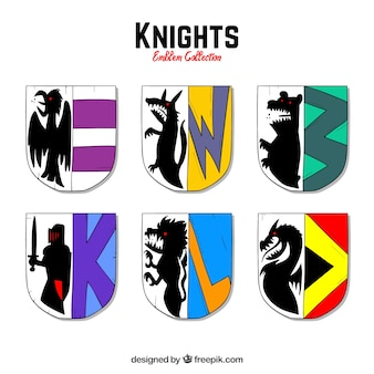 Pack of knight emblems
