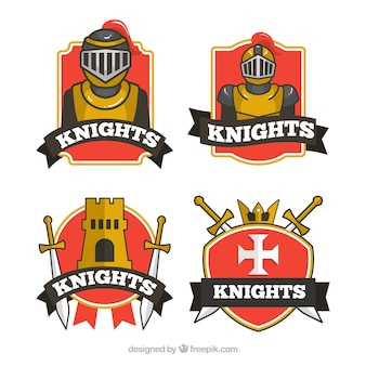 Pack of knight insignias