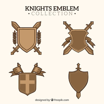 Pack of knight shields